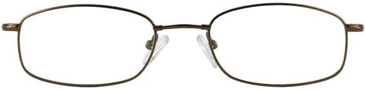 Prescription Glasses Model FX17-COFFEE-FRONT