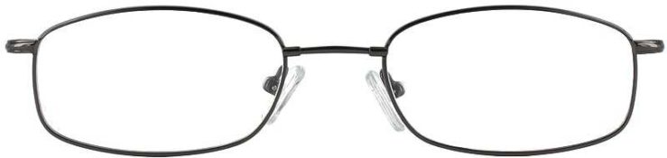 Prescription Glasses Model FX17-GUNMETAL-FRONT
