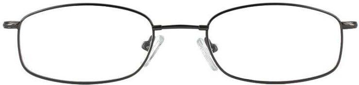 Prescription Glasses Model FX17-GUNMETAL-FRONT