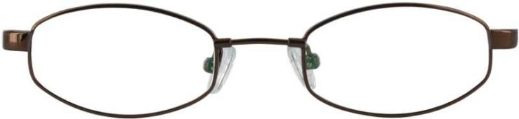Prescription Glasses Model FX19-COFFEE-FRONT