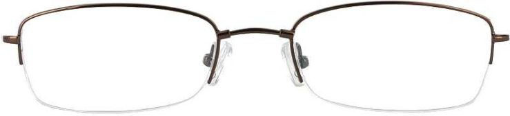 Prescription Glasses Model FX20-COFFEE-FRONT