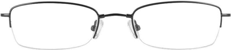 Prescription Glasses Model FX20-GUNMETAL-FRONT