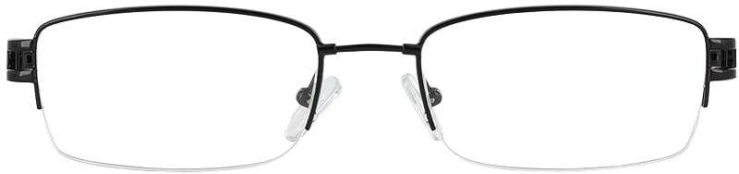 Prescription Glasses Model FX22-BLACK-FRONT