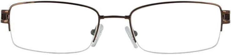 Prescription Glasses Model FX22-COFFEE-FRONT