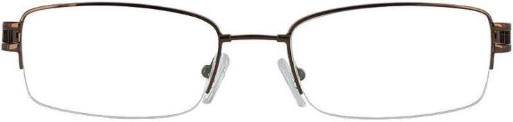 Prescription Glasses Model FX22-COFFEE-FRONT