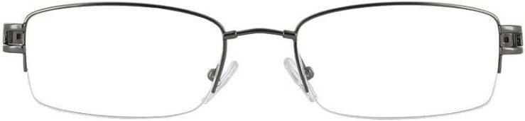 Prescription Glasses Model FX22-GUNMETAL-FRONT