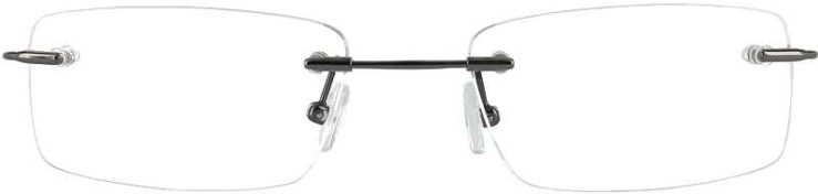 Prescription Glasses Model FX26-GUNMETAL-FRONT