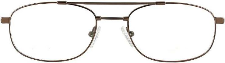 Prescription Glasses Model FX27-COFFEE-FRONT