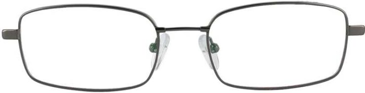 Prescription Glasses Model FX28-GUNETAL-FRONT