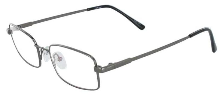 Prescription Glasses Model FX28-GUNMETAL-45