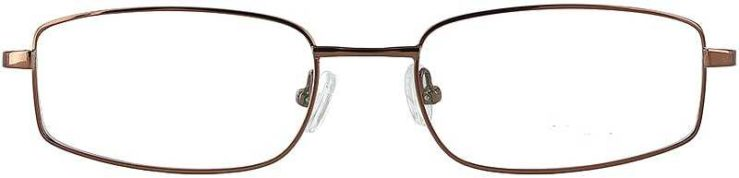 Prescription Glasses Model FX30-COFFEE-FRONT