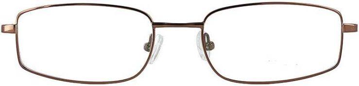 Prescription Glasses Model FX30-COFFEE-FRONT