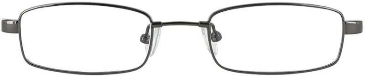Prescription Glasses Model FX33-GUNMETAL-FRONT