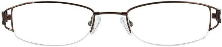 Prescription Glasses Model FX34-COFFEE-FRONT