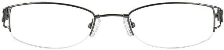 Prescription Glasses Model FX34-GUNMETAL-FRONT