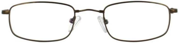 Prescription Glasses Model FX4-COFFEE-FRONT