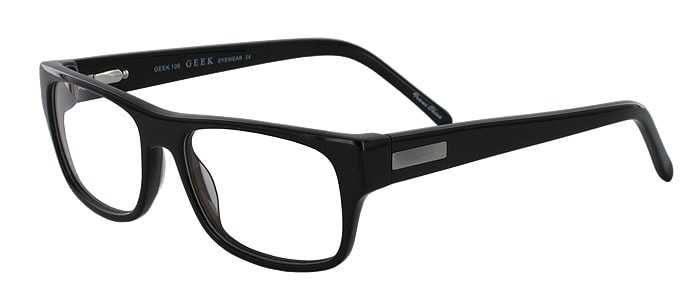 Prescription Glasses Model GEEK106-BLACK-45