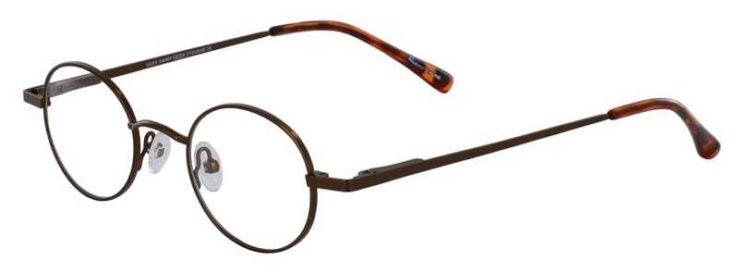 Prescription Glasses Model GEEK-HARRY-BROWN-45
