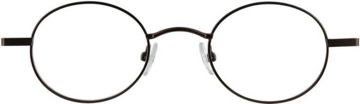 Prescription Glasses Model GEEK-HARRY-BROWN-FRONT