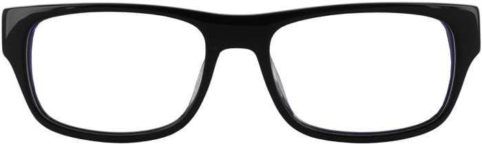 Prescription Glasses Model GEEK106-BLACK-FRONT