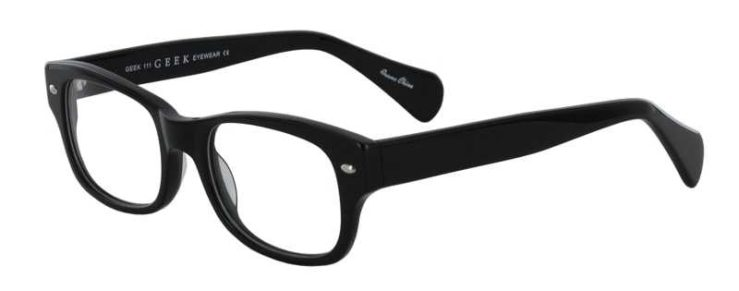 Prescription Glasses Model GEEK111-BLACK-45