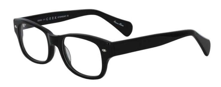 Prescription Glasses Model GEEK111-BLACK-45