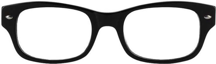 Prescription Glasses Model GEEK111-BLACK-FRONT