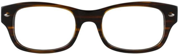 Prescription Glasses Model GEEK111-BROWN-STRATA-FRONT