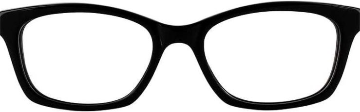 Prescription Glasses Model GEEK115-BLACK-FRONT