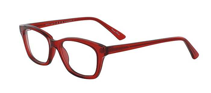 Prescription Glasses Model GEEK115-RED-45