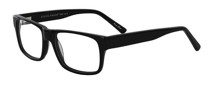 Prescription Glasses Model GEEK118-BLACK-45