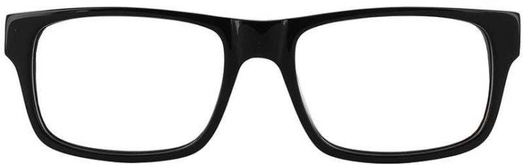 Prescription Glasses Model GEEK118-BLACK-FRONT