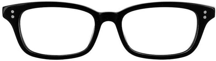 Prescription Glasses Model GEEK119L-BLACK-FRONT