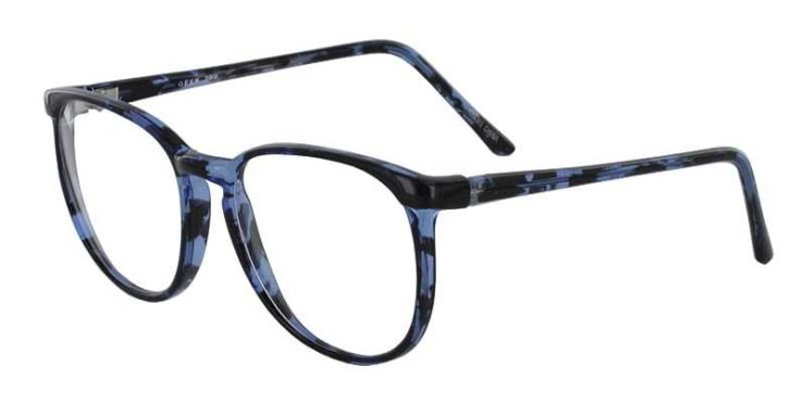 Prescription Glasses Model GEEK702-BLUE-DEMI-45