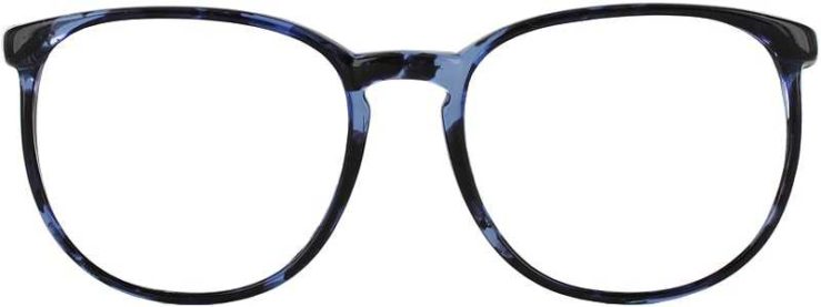 Prescription Glasses Model GEEK702-BLUE-DEMI-FRONT