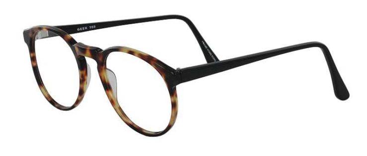 Prescription Glasses Model GEEK703-DARK-TORTOISE-45