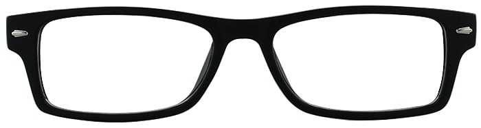 Prescription Glasses Model GENIUS-BLACK-FRONT
