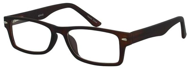 Prescription Glasses Model GENIUS-BROWN-45