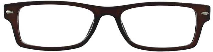 Prescription Glasses Model GENIUS-BROWN-FRONT