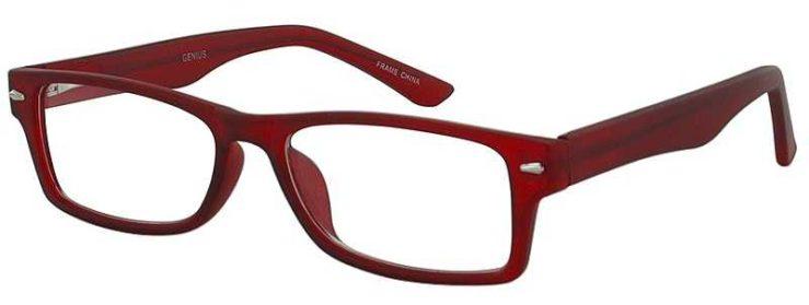 Prescription Glasses Model GENIUS-BURGUNDY-45