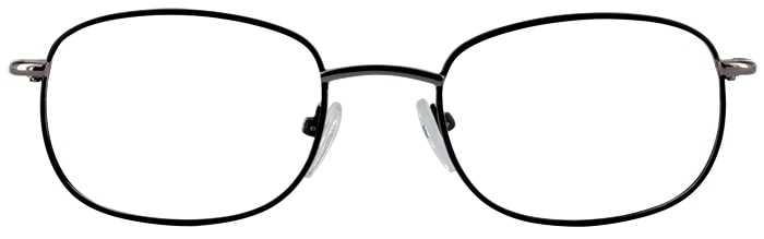 Prescription Glasses Model GOLDEN-BLACK-FRONT