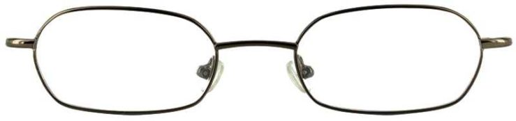 Prescription Glasses Model IRIS-BROWN-FRONT