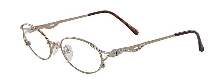 Prescription Glasses Model LILAC-GOLD-SILVER-45