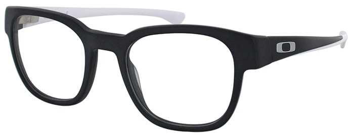 Oakley Prescription Glasses Model CLOVERLEAF-SATIN-BLACK-WHITE-45