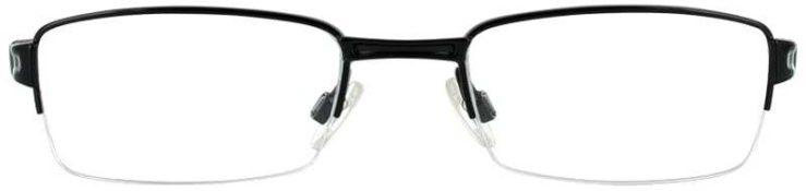 Oakley Prescription Glasses Model TUMBLEWEED 0.5-POLISHED BLACK-FRONT