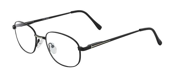 Prescription Glasses Model PT48-BLACK-GOLD-45