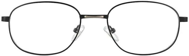 Prescription Glasses Model PT48-BLACK-GOLD-FRONT