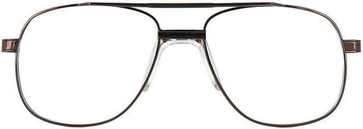 Prescription Glasses Model PT55-COFFEE-FRONT