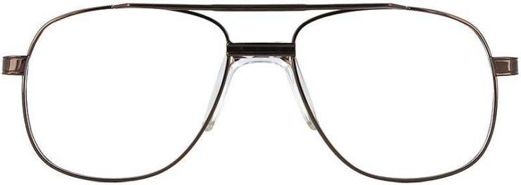 Prescription Glasses Model PT55-COFFEE-FRONT