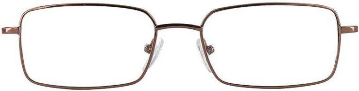 Prescription Glasses Model PT63-COFFEE-FRONT